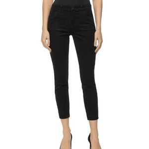J Brand Cropped Mid Rise Black Pants